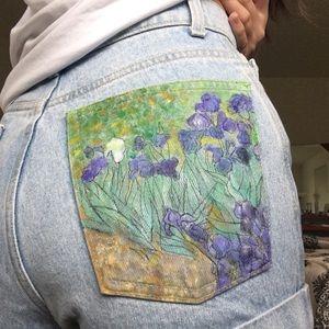 Hand Painted Denim Shorts